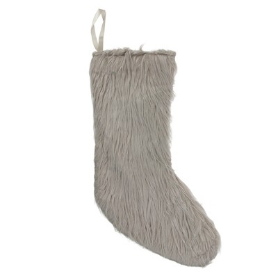 """Northlight 17.5"""" Taupe Brown Traditional Solid Christmas Stocking"""