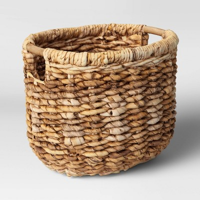 "13"" x 13"" Woven Oval Basket with Cut Off Handle - Threshold™"