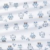 Fitted Crib Sheet Robots - Cloud Island™ Blue - image 4 of 4