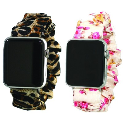Olivia Pratt Printed Scrunchie Apple Watch Band