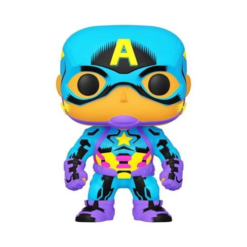 Funko POP! Marvel: Black Light - Captain America (Target Exclusive) - image 1 of 2
