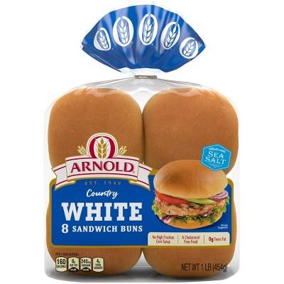 Arnold Select White Hamburger Buns - 15oz/8ct
