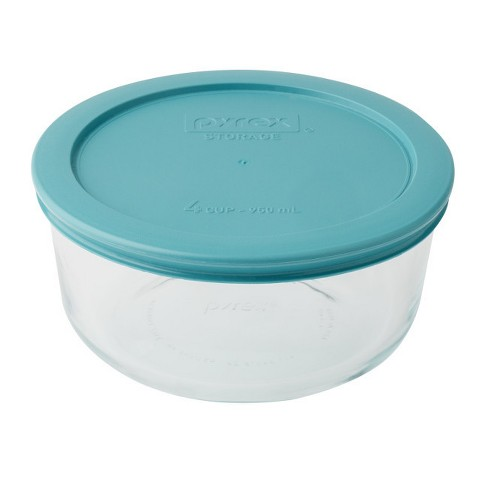 Pyrex Round Storage 4 Cup Aqua - image 1 of 1