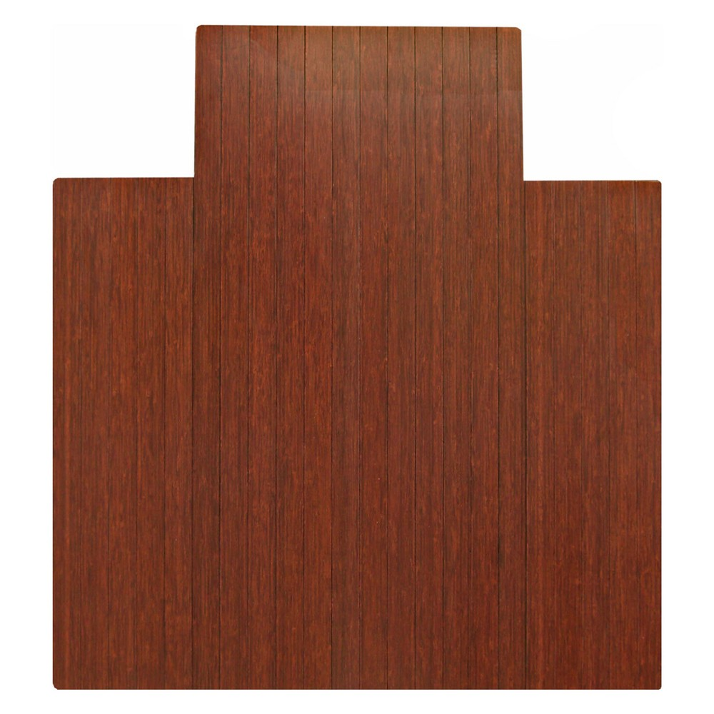 """Image of """"3'7""""""""X4'3"""""""" Bamboo Roll-Up Chairmat with Lip Brown - Anji Mountain"""""""