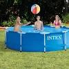Intex 10ft x 30in Metal Frame Swimming Pool Set w/ Filter Pump & Debris Cover - image 3 of 4