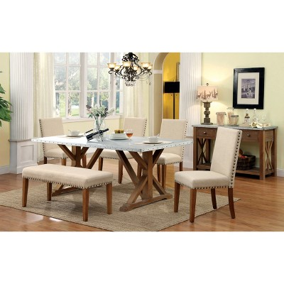 Etonnant Sun U0026 Pine Nail Head Trimmed Fabric Padded Dining Bench Wood/Natural Tone :  Target
