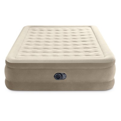 "Intex Ultra Plush 20"" Queen Air Mattress with 120V Internal Pump"