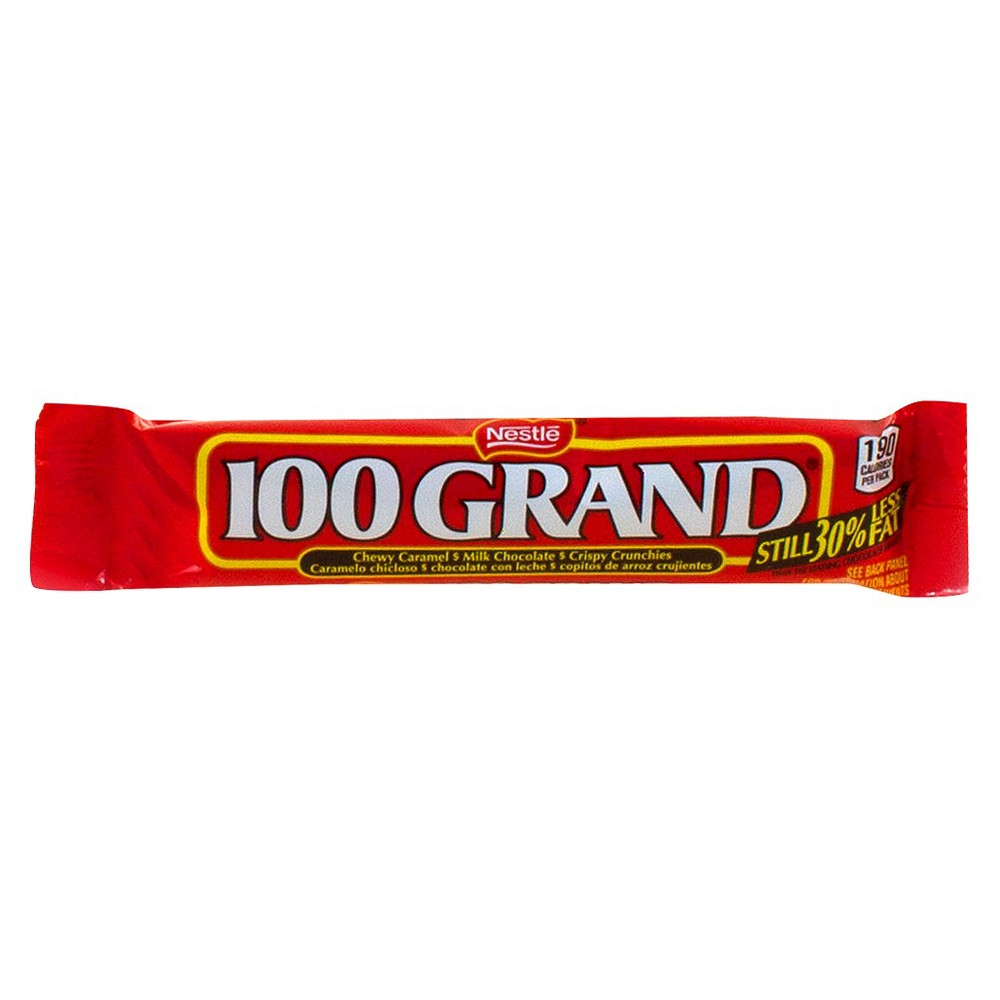 Image of 100 Grand Chewy Caramel Milk Chocolate Crispy Crunchies Candy Bars - 36ct, Brown