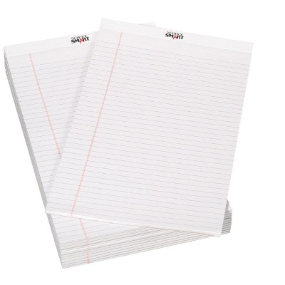School Smart Legal Pad, 8-1/2 x 14 Inches, White, 50 Sheets, pk of 12