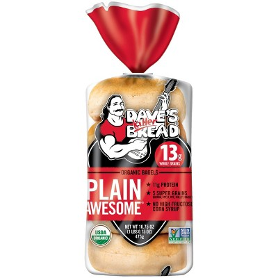 Dave's Killer Bread Plain Awesome Organic Bagels - 16.75oz