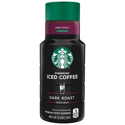 Starbucks Unsweetened Dark Roast Iced Coffee - 48 fl oz