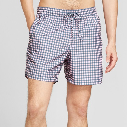 "Men's 18"" Elastic Waist In Print Repreve - Goodfellow & Co™ Pink Gingham - image 1 of 3"