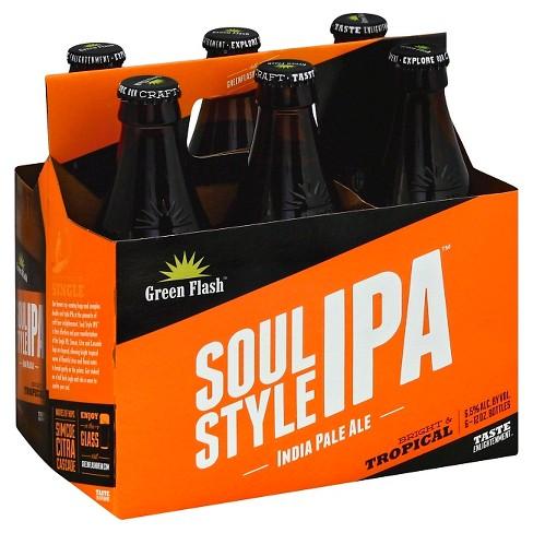 Green Flash Soul Style IPA Beer - 6pk/12 fl oz Bottles - image 1 of 1
