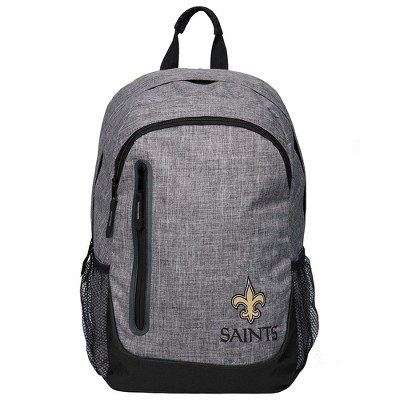 NFL New Orleans Saints Forever Collectibles - Heather Grey Bold Color Backpack