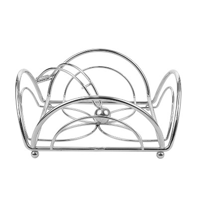 Spectrum Flower Flat Napkin Holder Steel - Chrome