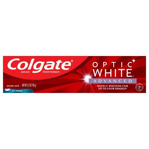 Colgate Optic White Advanced Teeth Whitening Toothpaste Icy