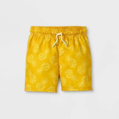 Toddler Boys' Pineapple Print Swim Trunks - Cat & Jack™ Yellow