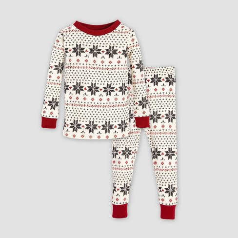 6e6533f7e763 Burt s Bees Baby Baby Organic Cotton Hand Drawn Snowflakes Pajama ...