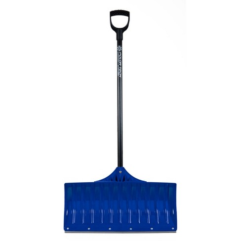 Earthway Contractor 36 Inch Handle Plastic Snow Pusher Shovel with 26 Inch Wide Blade with Steel Scraper