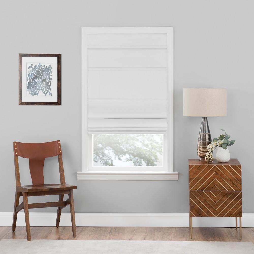 Cordless Roman Window Shade White (30x64) - Achim