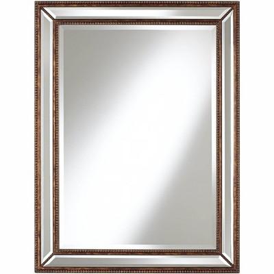 """Uttermost Palais Bronze 30"""" x 40"""" Beaded Wall Mirror"""