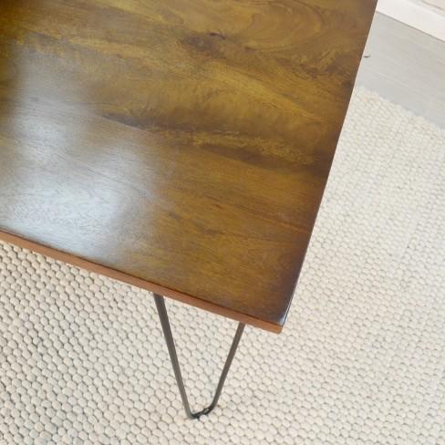 30 X 48 Elin Bent Iron Leg Dining Table Black Carolina Chair And Target
