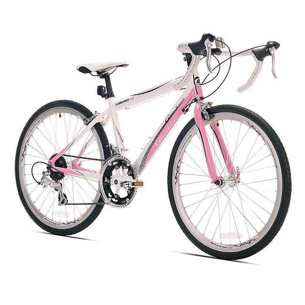 Giordano Women's Libero 24 Road Bike - Pink, White/Pink