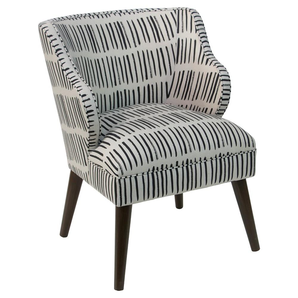 Logan Chair Dash Black White Skyline Furniture