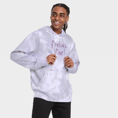 Men's 'Feeling Fine' Hooded Graphic Sweatshirt - White/Silver