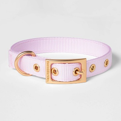 Metal Buckle with Adjustable Solid Nylon Dog Collar - Lilac - Boots & Barkley™
