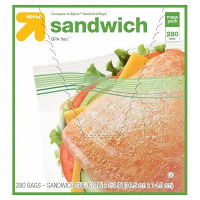Double Zipper Sandwich Bags 280ct - Up&Up™ (Compare to Ziploc® Sandwich Bags)