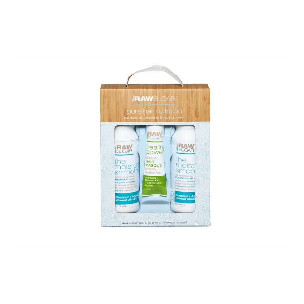 Raw Sugar Hair Care Trio Gift Set - Moisture Smoothie