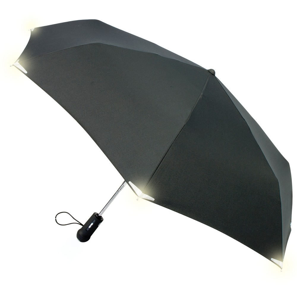 Compact Umbrella with Led Light, Black