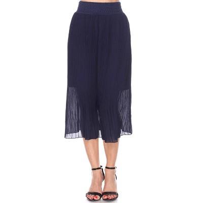 Women's Pleated Midi Skirt - White Mark