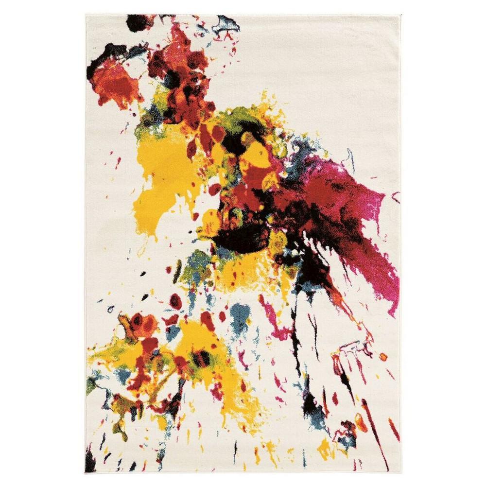 Masters MR04 Color Splash Area Rug - White (5' X 7'6)