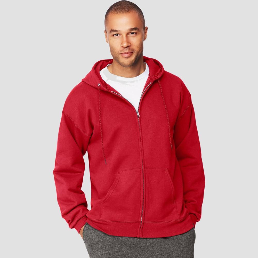 Hanes Men 39 S Ultimate Cotton Full Zip Hooded Sweatshirt Deep Red 2xl