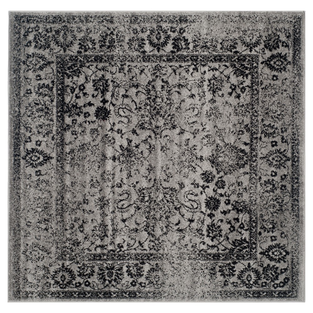 Reid Area Rug - Gray/Black (6'x6') - Safavieh