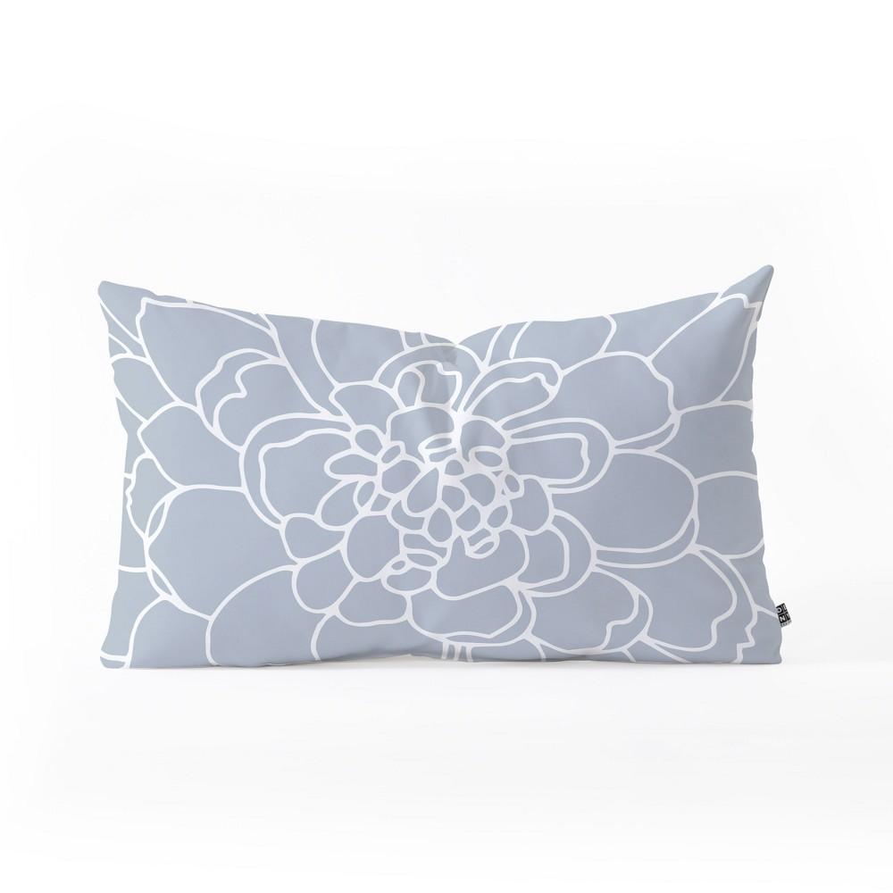 Iveta Abolina Floral Lumbar Throw Pillow Blue - Deny Designs