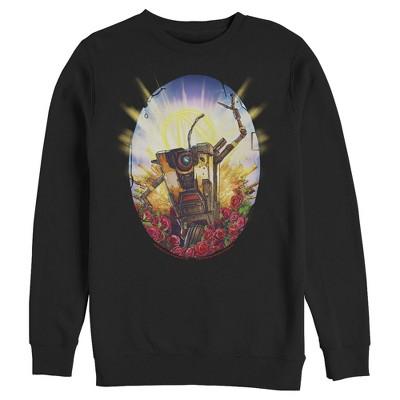 Men's Borderlands 3 Floral Claptrap Robot Sweatshirt