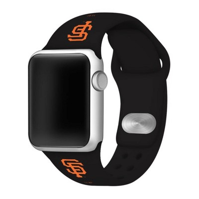 MLB San Francisco Giants Apple Watch Compatible Silicone Band 42mm - Black