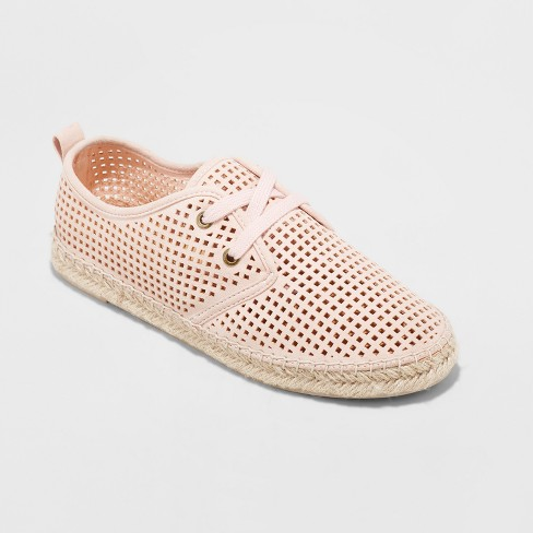 576285834136 Women s Teala Laser Cut Lace up Sneakers Espadrille - Universal Thread™ Pink