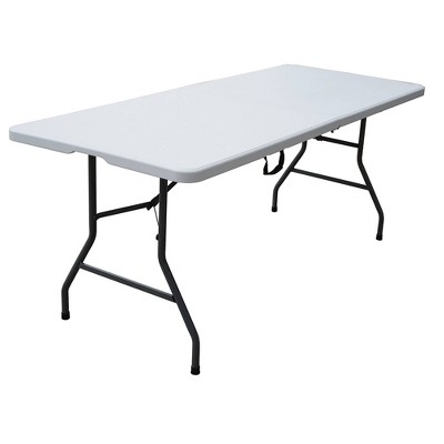 6' Folding Banquet Table Off-White - Plastic Dev Group