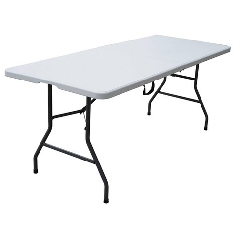 6 Folding Banquet Table Off White
