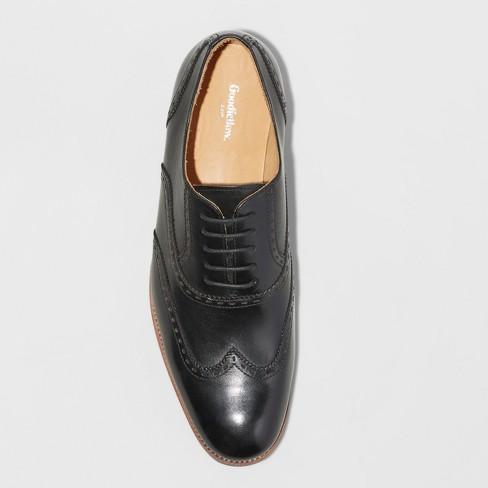 66d25953773d0 Men s Walton Leather Wingtip Dress Shoes - Goodfellow   Co™ Black   Target