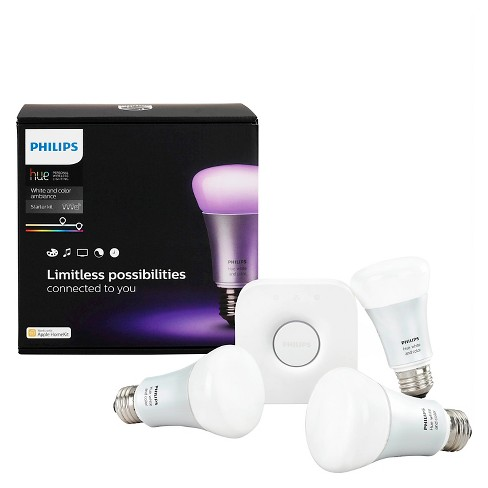 Philips® Hue A19 White and Color Ambiance LED Starter Kit Generation 2 - image 1 of 4