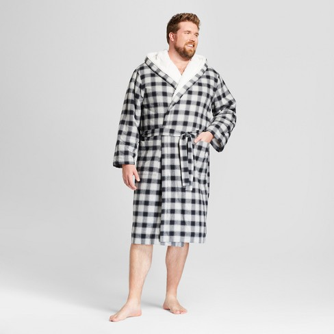 Men s Big   Tall Flannel Sherpa Robe - Goodfellow   Co™   Target b40bf8004