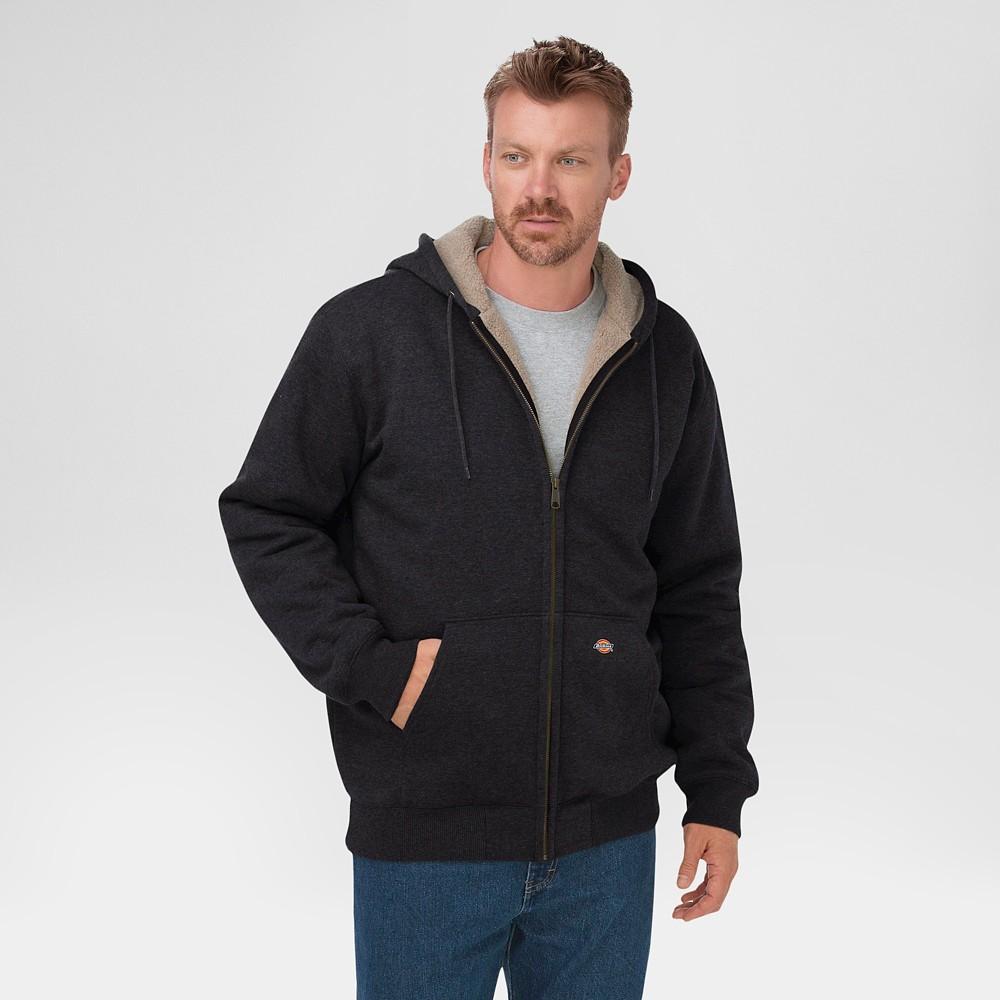 Dickies Men's Sherpa Lined Fleece Hoodie Black S