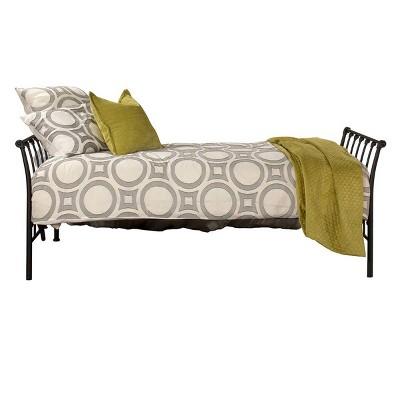 Midland Metal Backless Daybed Twin Black Sparkle - Hillsdale Furniture