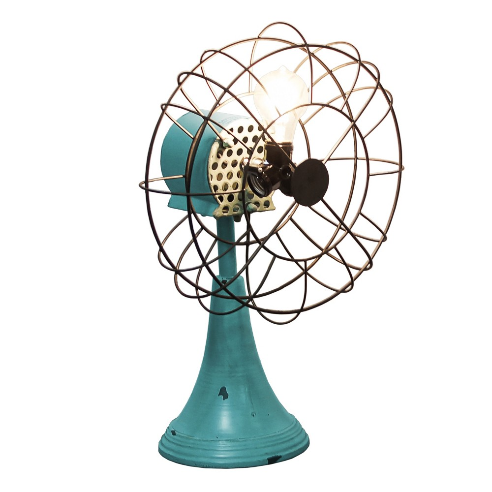 Metal Triple Light Fan Teal (Blue) - Vip Home & Garden
