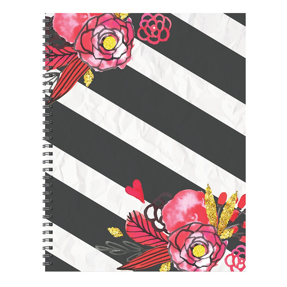 Undated Spiral Weekly Planner Floral Stripe - TF Publishing, Stripes